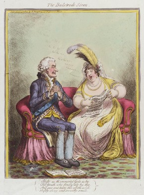 James Gillray, The Bulstrode Siren, print of Elizabeth Billington, 1803
