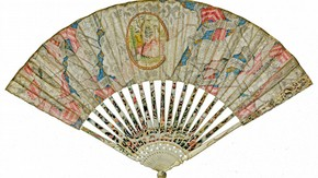 Fan, British, 1790s, painted kidskin. Museum no. T.25-1957