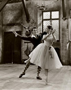 La Sylphide, Ballet Rambert, black and white photograph, 1961