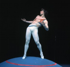 Nureyev in Ropes of Time, colour photograph, 1970
