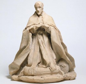 Sketch model of Pope Alexander VII, Giovanni Lorenzo Bernini, Italy, 1669-70. Museum no. A.17-1932
