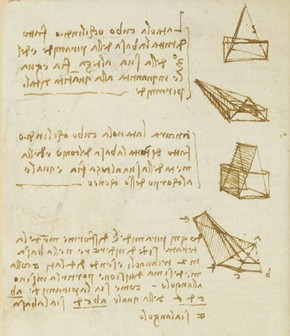 Leonardo da Vinci, Forster Codex, Volume I, 16v, 1505. Museum no. F.141 Volume I V16 (Forster)