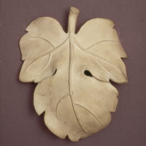 Plaster cast of a fig leaf, perhaps by the firm of D. Brucciani & Co, London, England, UK, about 1857. Museum no REPRO 1857-161:A