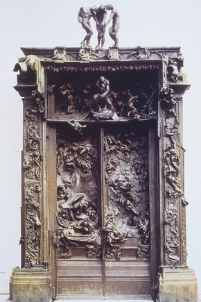 'The Gates of Hell', designed by Auguste Rodin, cast in bronze by Alexis Rudier, Paris, France, 1917. In the Museé Rodin, Paris, France.