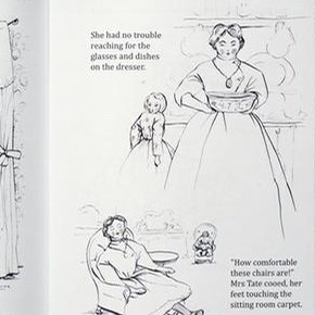 'Mrs Bryant's Pleasure' made by Rebecca Green during her Book Illustration class at Chelsea College of Art