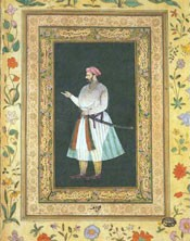 Ascribed to Balchand, Portrait of Mirza Abu'l Hasan 'Itiqad Khan, 1620-30. Museum no. IM.120-1921