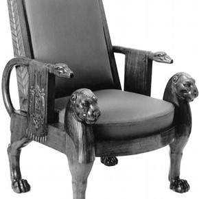 Figure 1. The Denon chair (1803-1813), belonging to the National Museums and Galleries on Merseyside, complete with upholstery. Photography by V
