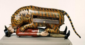 'Tippoo's Tiger', emblematic organ, 1790. Museum no. 2545 (IS). © Victoria and Albert Museum, London