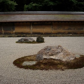 Zen garden at Royoanji, Japan. Photograph by Greg Irvine
