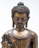 Standing figure of the Buddha Sakyamuni, East India, Late 6th - early 7th century. Museum no. IS.3-2004