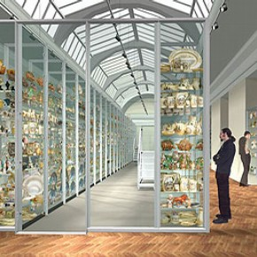 Figure 1: 3D visualisation of 'visible storage' for Ceramics galleries Phase 2 (Photography by OPERA)