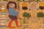 Sampler (detail), 1660. Museum no. T.217-1970. Given by Lord Cowdray