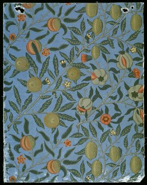 'Fruit' (or 'Pomegranate') wallpaper, by William Morris, 1866. Museum no. E.447-1919. © Victoria & Albert Museum, London
