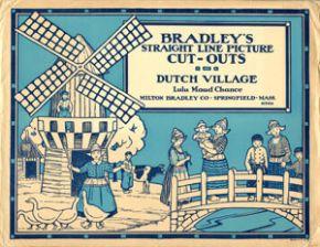 Paper model, Dutch village, MiIlton Bradley, USA, c.1920