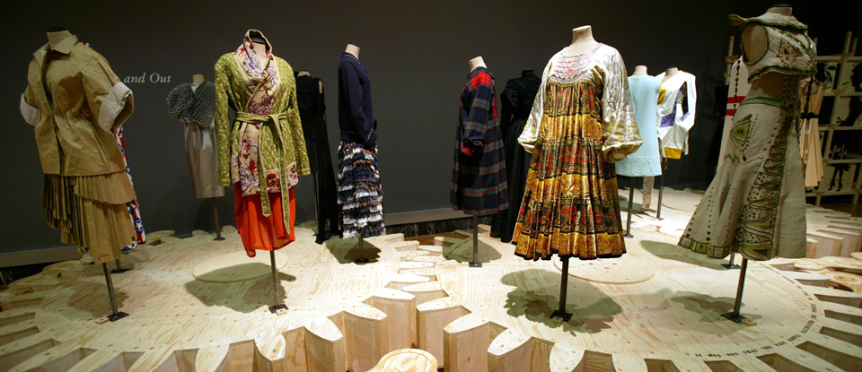 View of costumes in the Spectres exhibition in 2005