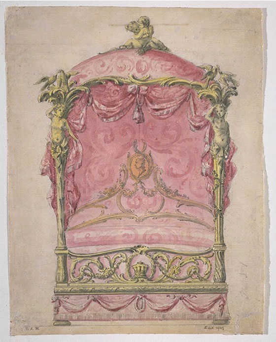 Design for a State Bed by John Linnell, 1765