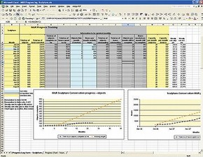 Figure 1. An example of a progress log in MS Excel.