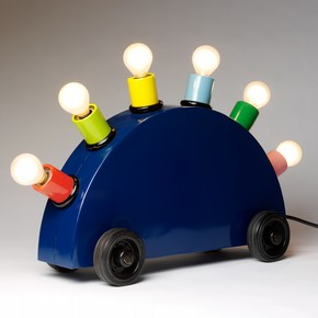 Martine Bedin (for Memphis), Super lamp prototype, 1981. Painted metal with lighting components. V&A: M.1-2011