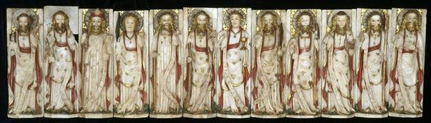 Twelve figures of the Apostles, unknown maker, 1440-1460. Museum no. A.148 to 159-1922