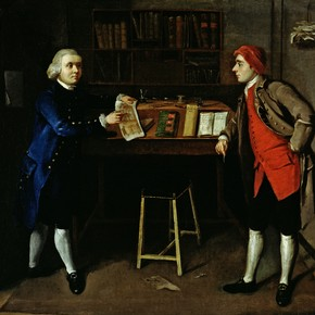 A Cabinet-Maker's Office, unknown artist, about 1770, Britain. Museum no. P.1-1961