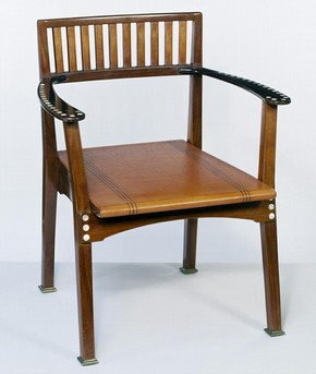 Armchair, Otto Wagner, Vienna, about 1898-1899. Museum no. W.13-1982