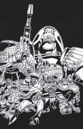 Specially commissioned illustration by Mike McMahon for the 'Art droids: 2000 AD' exhibition at the V&A museum