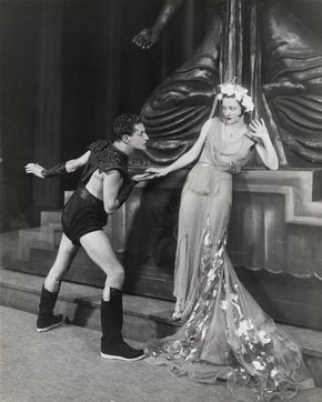 Ivor Novello and Dorothy Dickson in Novellos musical Careless Rapture, Drury Lane Theatre, London, 1936, black and white photograph. Museum no. 1972/A/18