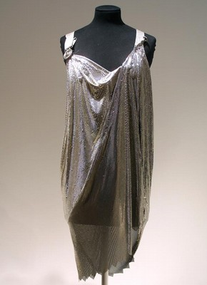 Cocktail dress, Spring-Summer 1994, Versace, silver-tone Oroton