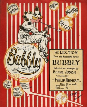 Sheet music for 'Bubbles' from the revue 'Bubbly', printed by Ascherberg, Hopwood & Crew Ltd, 1917. © Victoria and Albert Museum, London