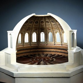 Model of the interor of the The Reading Room of the British Museum, made by Sydney Smirke, England, about 1853. Museum no. 349-1890