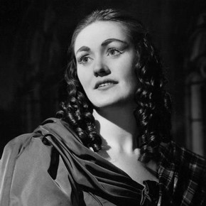 Joan Sutherland as Lucia in Act I of Donizetti's opera Lucia di Lammermoo, Royal Opera House, Covent Garden, London, 1959