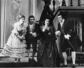 Scene from Covent Garden's production of Mozart's The Marriage of Figaro, 1963. Museum no. TM/424