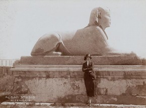 Anna Pavlova in Egypt, sepia-tone photograph, 1923