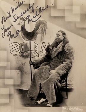 Max  Miller with autograph, mid 20th century. © Victoria and Albert Museum,  London