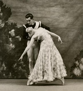 Lilac Garden, Ballet Rambert, black and white photograph, January 1936