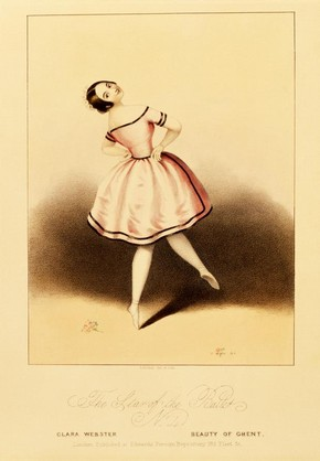 Print depicting Clara Webster in The Beauty of Ghent, L'Enfant (print), lithographic print, about 1844. Museum no. E.5065-1968