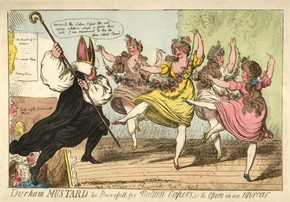 Isaac Cruickshank, coloured lithographic print of Opera in an Uproar, performed January 1807