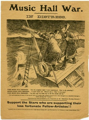 Music Hall strike leaflet, 1907. © Victoria and Albert Museum, London