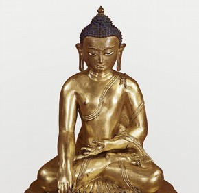 Seated Buddha, Tibet, late 14th century. Museum no. IM.121-1910