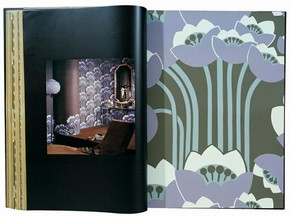 'Kelpie' wallpaper sample and photograph of room set, 1976. Museum no. E.1102-1979