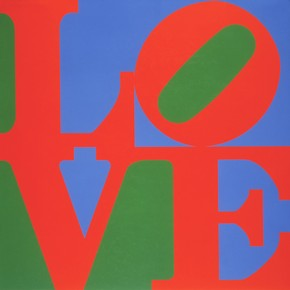 'Love' (detail), Robert Indiana, 1967. Museum no. Circ.579-1968