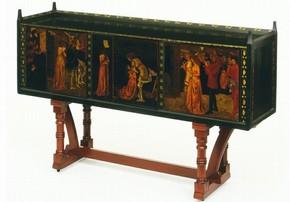 St. George Cabinet, William Morris, England, 1861 - 1862. Museum no. 341-1906