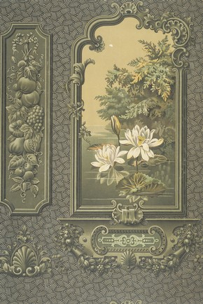 Sanitary wallpaper, 1895. Museum no. E.1943-1952