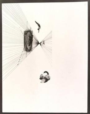 Fotoplastiken; Leda und der Schwan, photograph, László Moholy-Nagy, 1926. Museum no. CIRC.202-1974