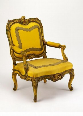 Armchair, Paris, ca. 1740, bought fromm the Executors of the late Joseph Henry Fitzhenry, via George Durlacher