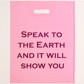 Untitled, line-block on plastic carrier bag, by Jeremy Deller, 2003. E. 3540-2004