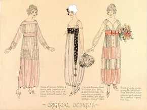 Florrie Westwood, fashion design, London, 1918-9. Museum no. E.1539-1977
