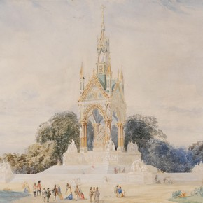Detail from an original design for the Albert