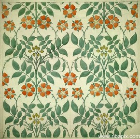 Design for wallpaper, Charles Francis Annesley Voysey, 1906-7. RIBA No. SB118/VOY 722