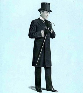 George Alexander as Jack Worthing ('The Importance of Being Earnest'), from 'The Sketch' magazine, London, 1895.